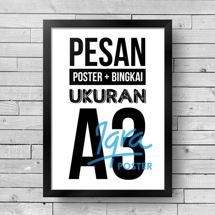 Foto Produk  Pigura Ukuran A3 dan Desain Poster Pilihan Anda dari Iqra Poster