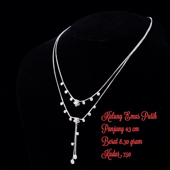 Ofashion Aksesoris Kalung XX-CA-1702K028 Modern Necklace Accessories Panjang 56 Cm - Silver. Source · Kalung emas putih