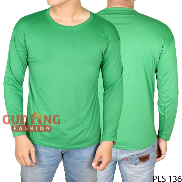 harga Kaos Lengan Panjang Pria Casual PLS 136 Tokopedia.com