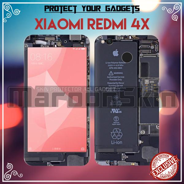 Jual Garskin Xiaomi Redmi 4x Iphone Mesin Kota Yogyakarta Maroonskin Tokopedia