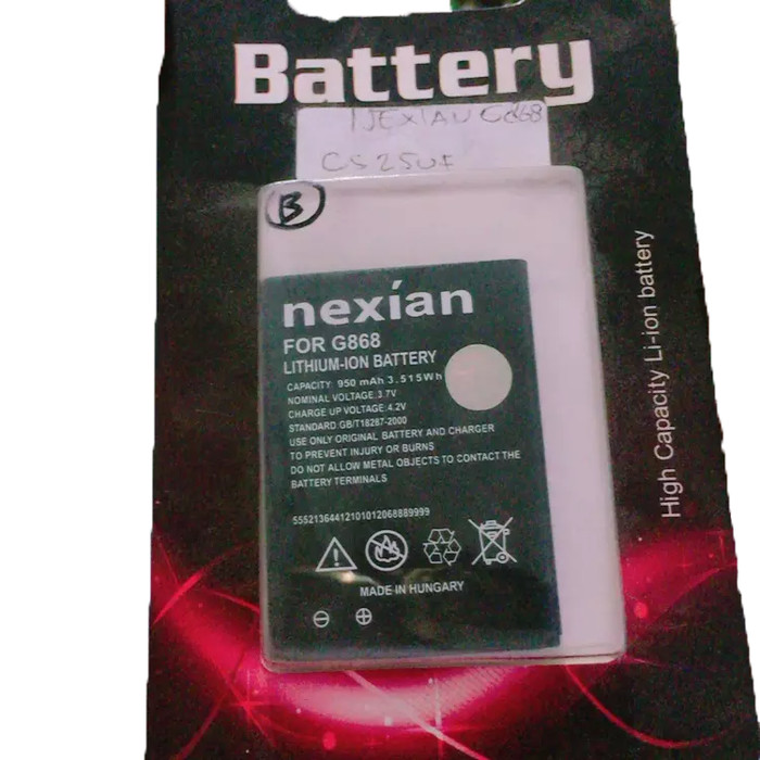harga Baterai nexian nx-tm-007 ba-007 g868 tap g798 lady glam g268 steel bar Tokopedia.com