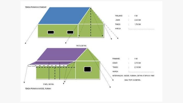 harga Tenda pramuka model rumah Tokopedia.com