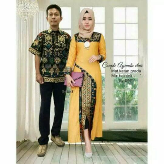 Toko Pedia Baju Batik: Jual Baju Batik Couple Ayunda Etnic Yellow