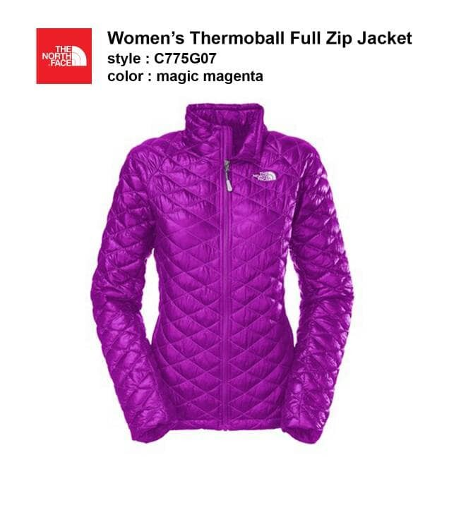 New With Tags Womens North Face Jacket Thermoball Insulated Coat Full Zip
