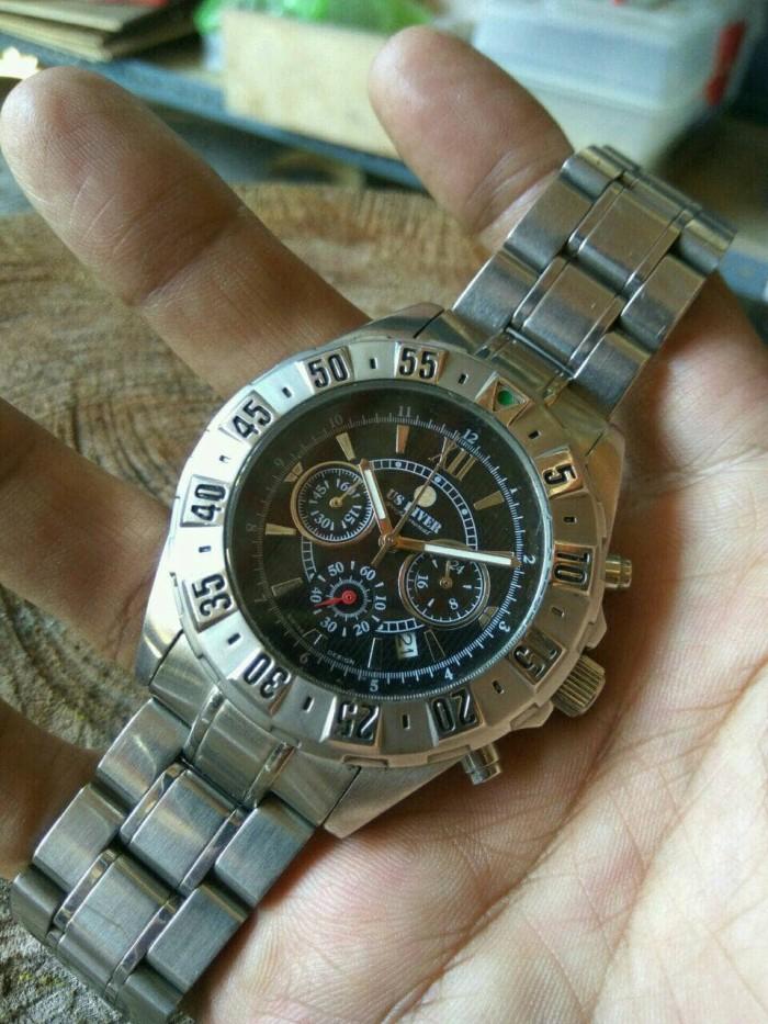 jam tangan Original US Diver Chronograph military WR100m kondisi mulus 7c52b0e89b