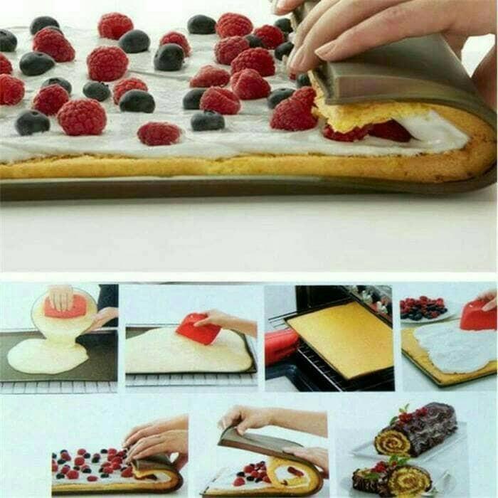 harga Loyang tray silikon sil mat pizza roti donut swiss roll bolu gulung Tokopedia.com