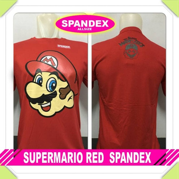 harga Kaos oblong super mario bros red spandex xplus Tokopedia.com