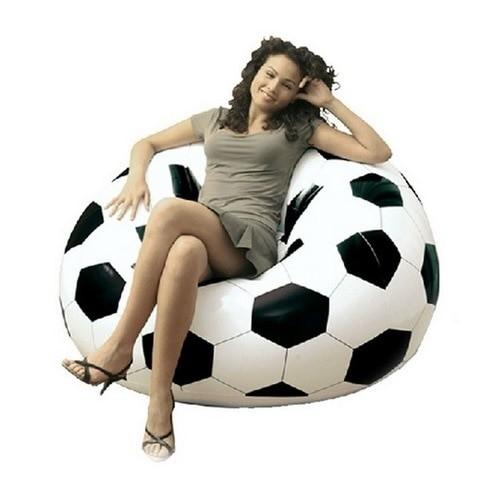 Foto Produk Kursi Bangku Sofa Angin Bola SOCER Tempat Duduk Unik PVC Merek Bestway dari Milky