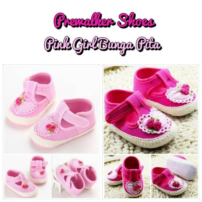 ... harga Sepatu bayi perempuan   prewalker shoes - mothercare pink bunga  pita Tokopedia.com f02ecbc1aa