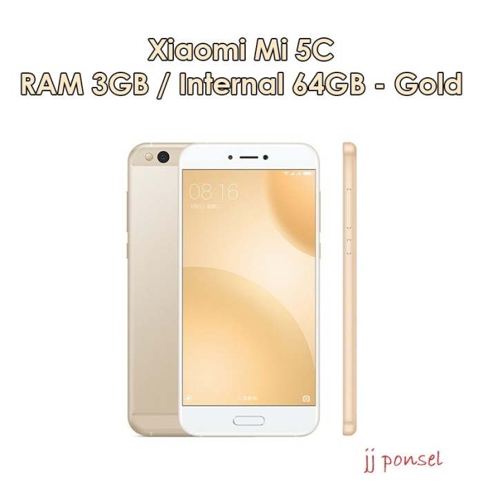 harga Xiaomi mi5c 3gb-64gb gold Tokopedia.com