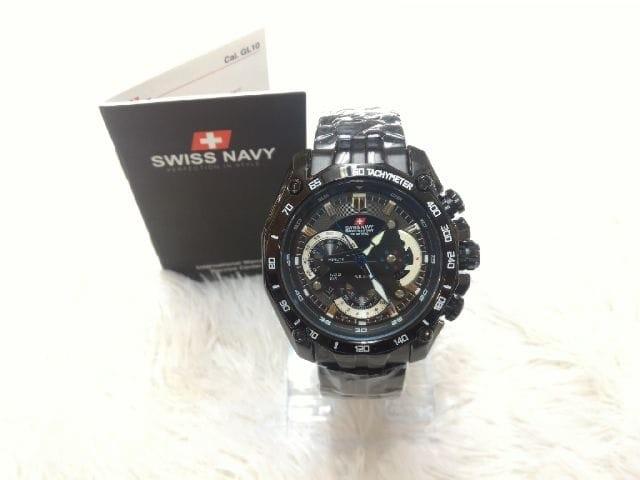 Swiss Navy Jam Tangan Pria Full Black 8079 Original Berkualitas