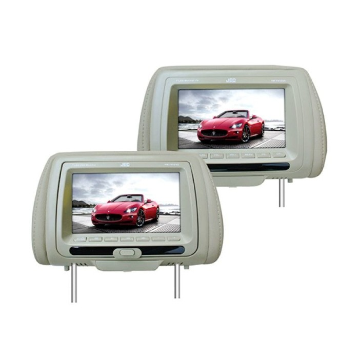 harga Jec hm-791 dvd headrest monitor - 7  - beige Tokopedia.com