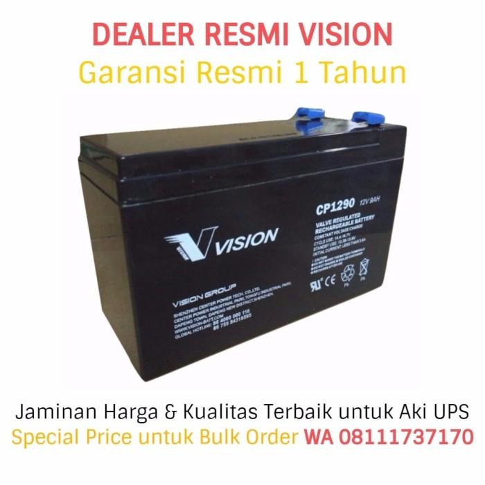 harga Aki ups vision 12v - 9ah (garansi resmi). battery ups / baterai ups Tokopedia.com
