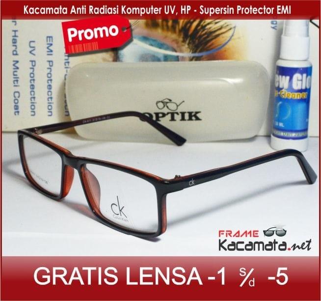 Frame Kacamata + Lensa Minus Anti Radiasi Pria Wanita Baca Korea Kotak b9719c21d2