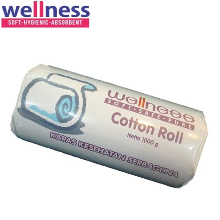 Kapas gulung wellness cotton roll pembersih serba guna baby bayi 1kg