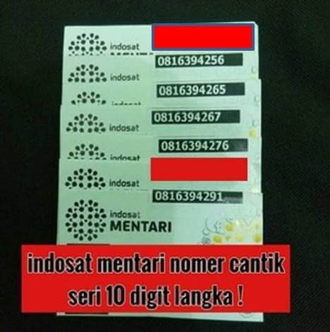 harga Indosat mentari 10 digit perdana nomer cantik langka Tokopedia.com