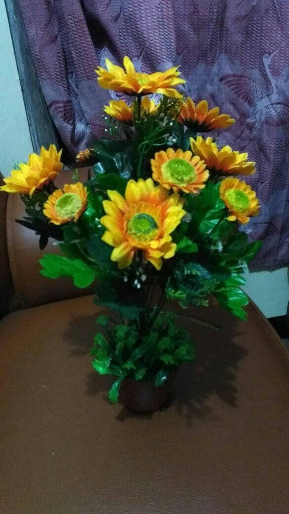 Jual GROSIR MURAH MERIAH bunga plastik hiasan meja tamu ruangan ... e0aadd7491