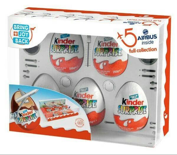 harga Kinder surprise airbus isi 5 eggs Tokopedia.com