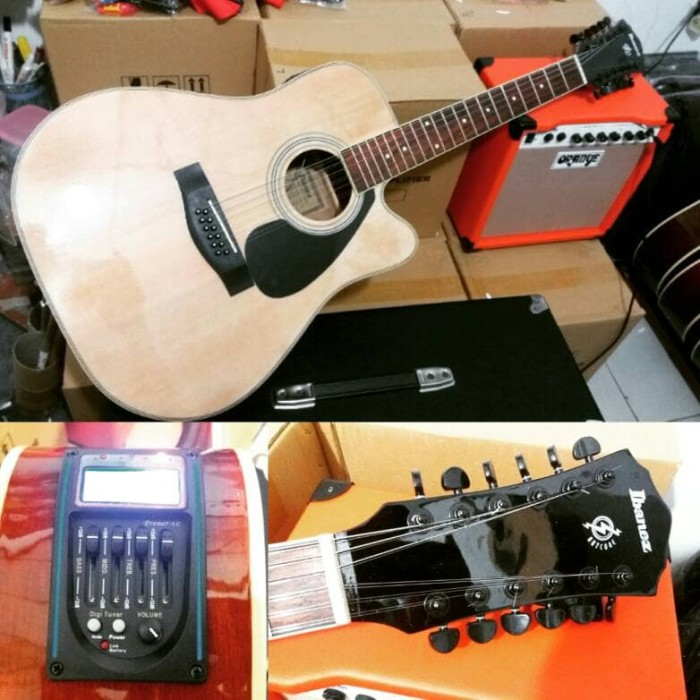 harga Ibanez 12 string jumbo akustik elektrik gitar cstm senar daddario cstm Tokopedia.com