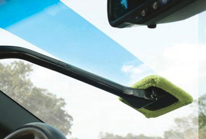 Alat pembersih kaca mobil multifungsi   lebih simpel & mudah