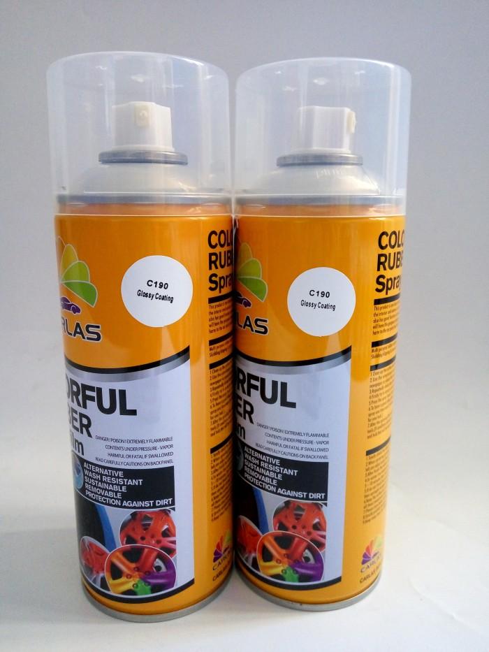 harga Carlas rubber paint dof c190 clear glossy-cat carlas semprot-pilok Tokopedia.com