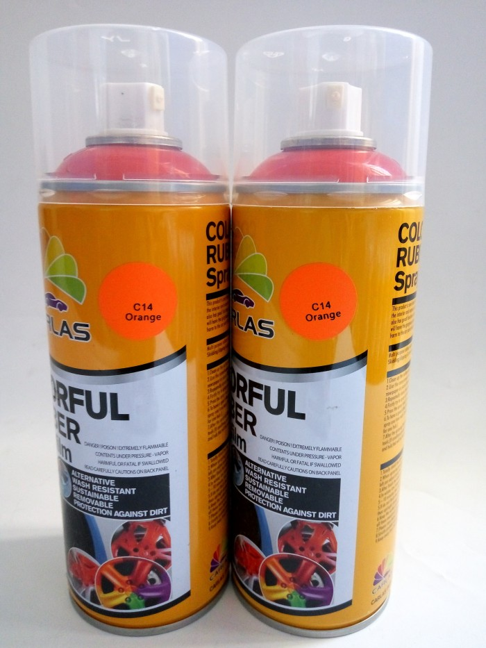 harga Carlas rubber paint dof c14 orange -cat carlas semprot - pilok Tokopedia.com