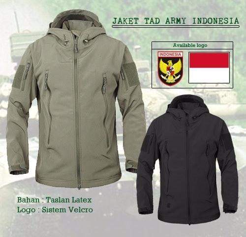 Jaket tactical tad army indonesia bahan taslan taiwan