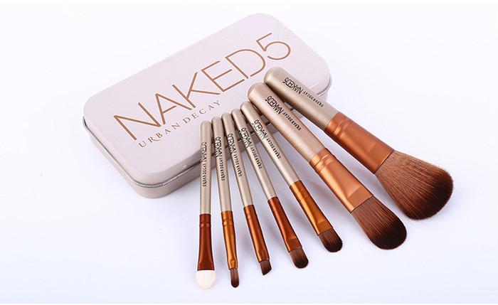 harga Make up brush / kuas make up naked 5 urban isi 7 set
