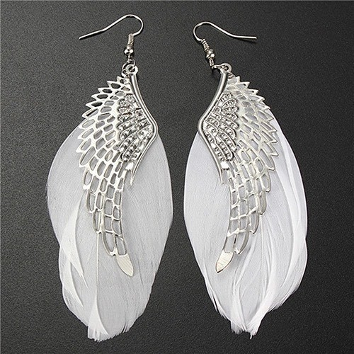 Anting angel wings feather | aksesoris import murah