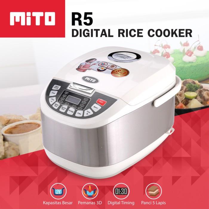 Jual Mito R5 Digital Rice Cooker 2l – Silver Harga Promo Terbaru