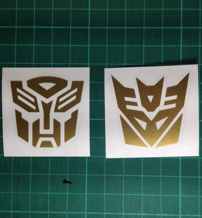 Sohoku Emblem Stiker 3D Transformer Autobot Silver. Source. ' harga Sticker / stiker transformer