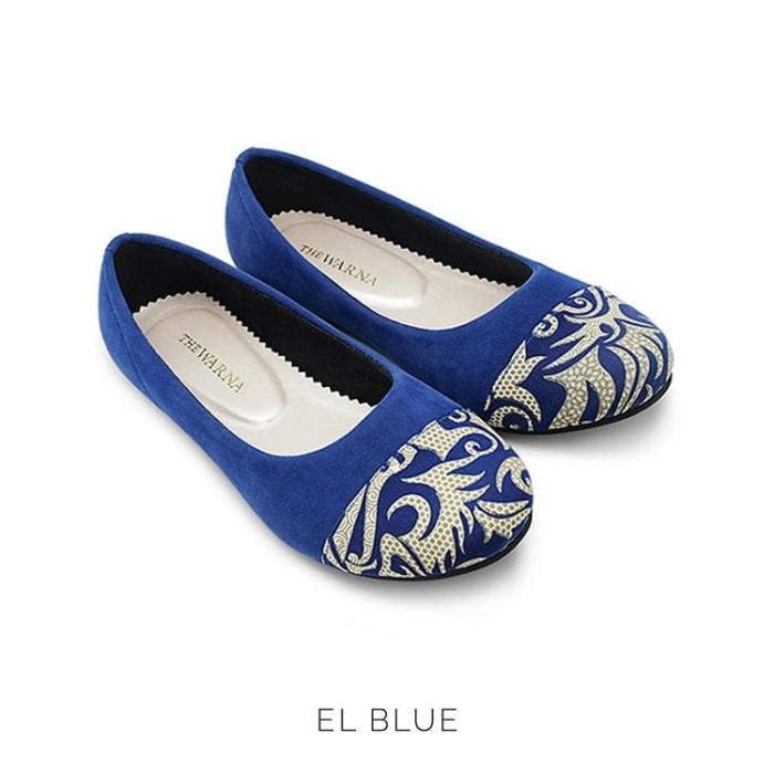 harga Flat shoes / sepatu wanita etnik batik tenun - el blue Tokopedia.com