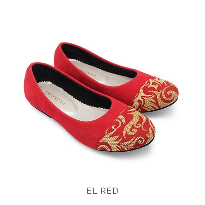 harga Flat shoes / sepatu wanita etnik batik tenun - el red Tokopedia.com