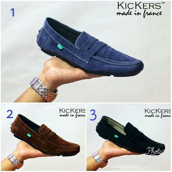 harga Sepatu kickers moccasin slop suede santai original handmade Tokopedia.com