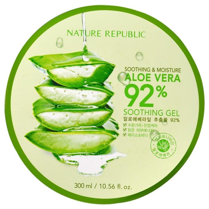 harga Nature republic soothing & moisture aloe vera 92% - 300ml Tokopedia.com