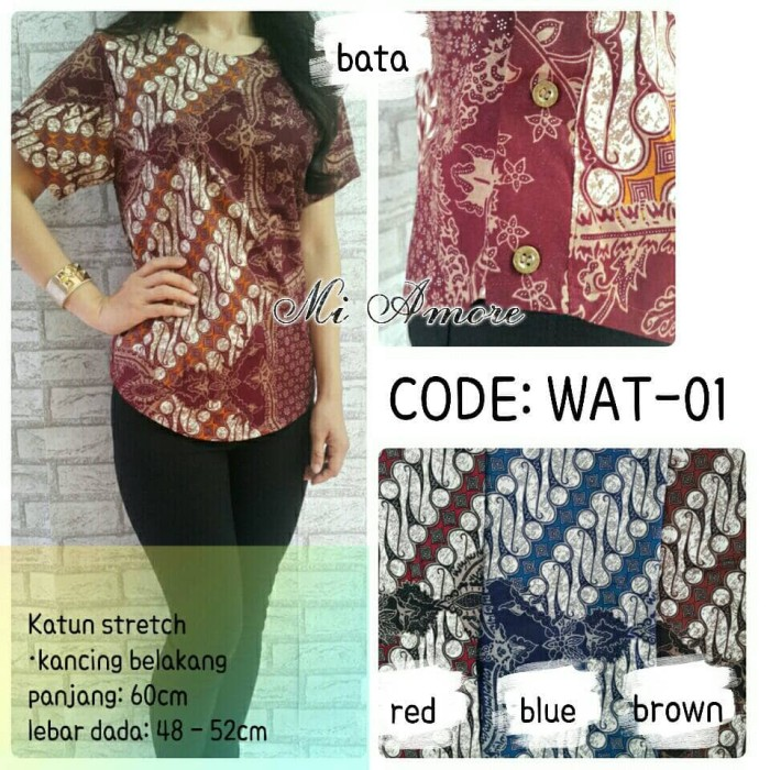 harga Baju / pakaian atasan blus batik mi amore - 01 Tokopedia.com