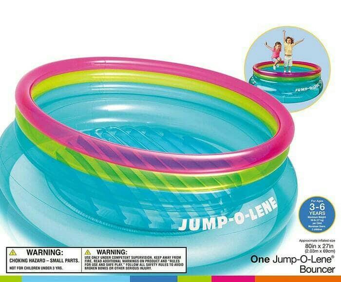 harga Intex 48267 jump-o-lene bouncer trampoline / tempat mainan lompat anak Tokopedia.com