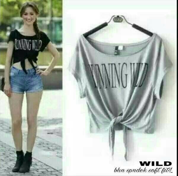 294c743d1e5720 ... harga Croptop crop tee top pendek mini blouse kaos baju atasan bluss  shirt Tokopedia.com