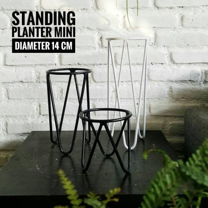 harga Standing planter mini tinggi 15 cm diameter 14 cm Tokopedia.com