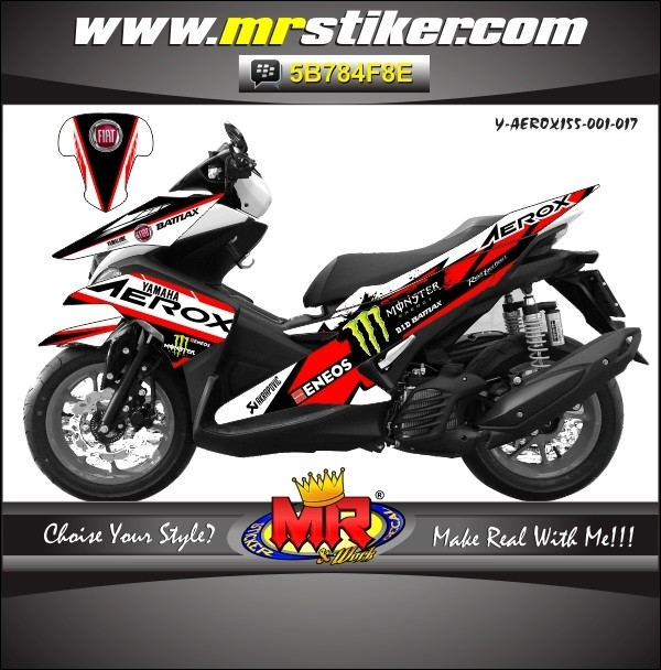 Jual Striping Motor Decal Aerox 155 New Desain Keren Dan Elegant Kab Klaten Mr Stiker Tokopedia