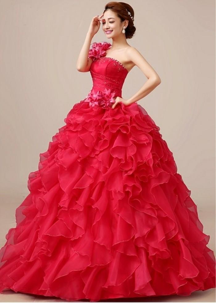 Jual Gaun Kebaya Pengantin Pre Wedding Dress Import Rose Red