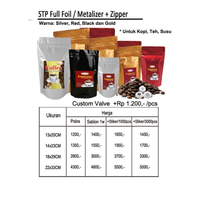 harga Standing pouch zipper full foil red ukuran 14x23 cm Tokopedia.com