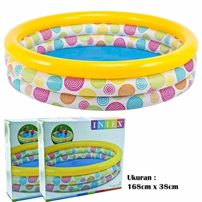 ... Ring For Baby 114cm x 25cm Kolam Source · Intex 58449 wild geometry pool 168cm x 38cm kolam renang anak besar