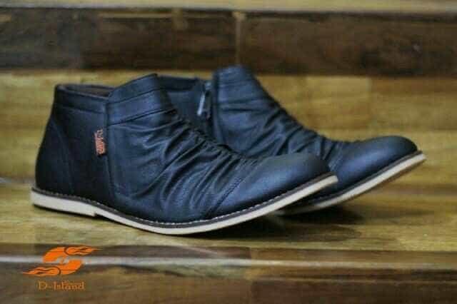 Sepatu boots pria d-island original handmade distro bandung murah hit