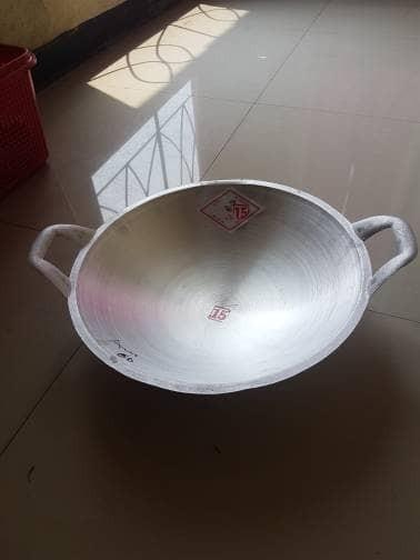 Kuali/wajan/alat masak cap dua ikan alumunium no 15