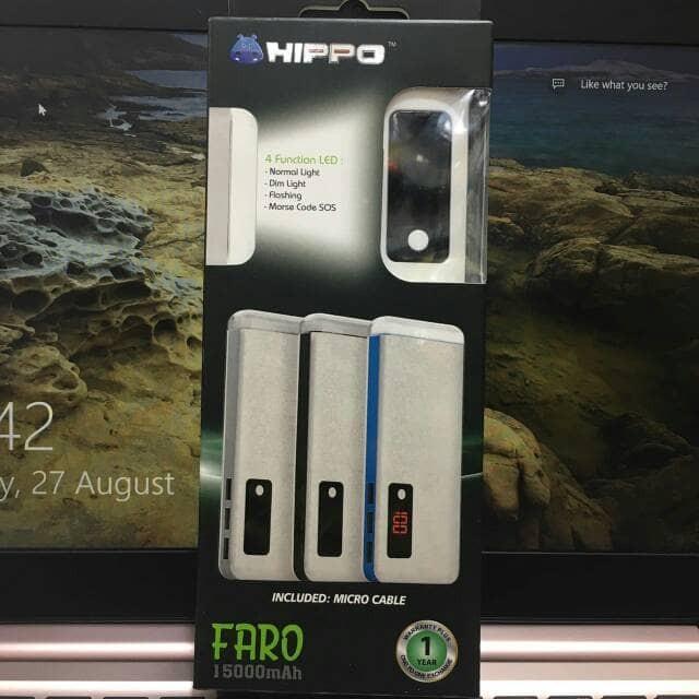 harga Powerbank hippo faro 15000mah power bank 15000 mah real capacity Tokopedia.com