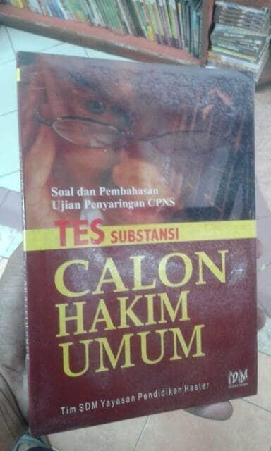 harga Tes Substansi Calon Hakim Umu Tokopedia.com