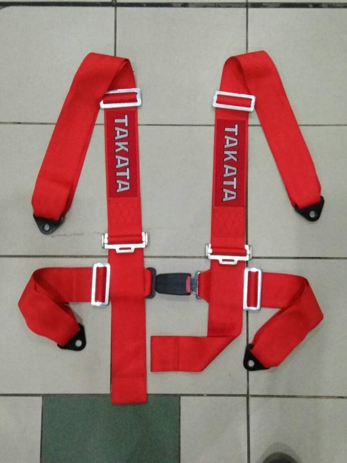 Seat belt safety belt takata hitam hijau merah model colok tancap ...