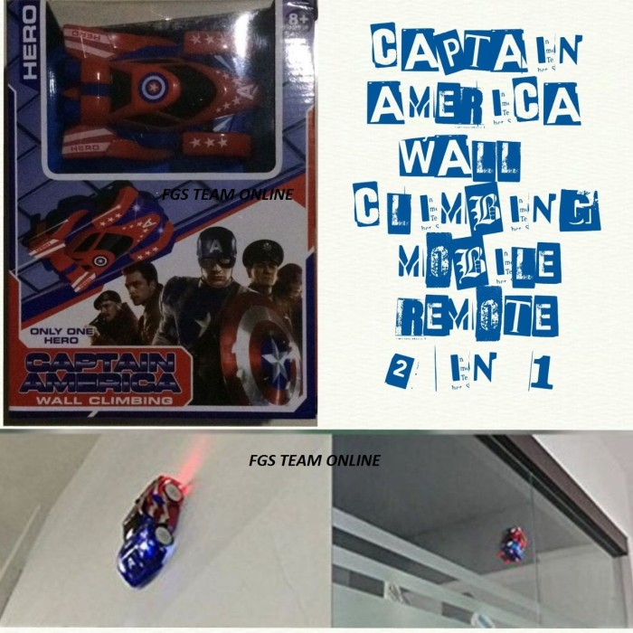 harga Mainan anak mobil remote control wall climbing captain america  218-m Tokopedia.com