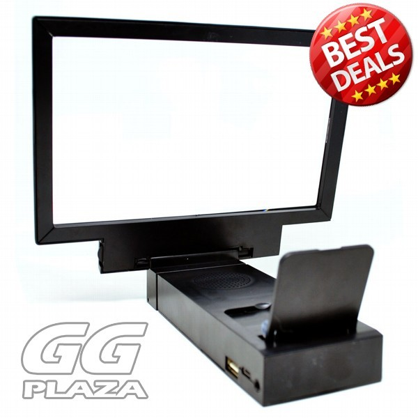 harga Enlarge screen magnifier bracket stand 3d with speaker f`1v716d- black Tokopedia.com